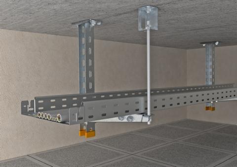 Кронштейн для крепления и подвеса лотков и кабелей