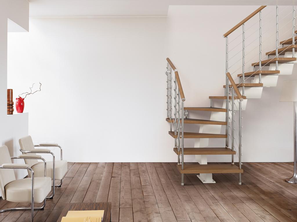 Забежная лестница на монокосоуре