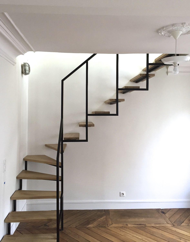 Лестница с забежными ступенями в частном доме