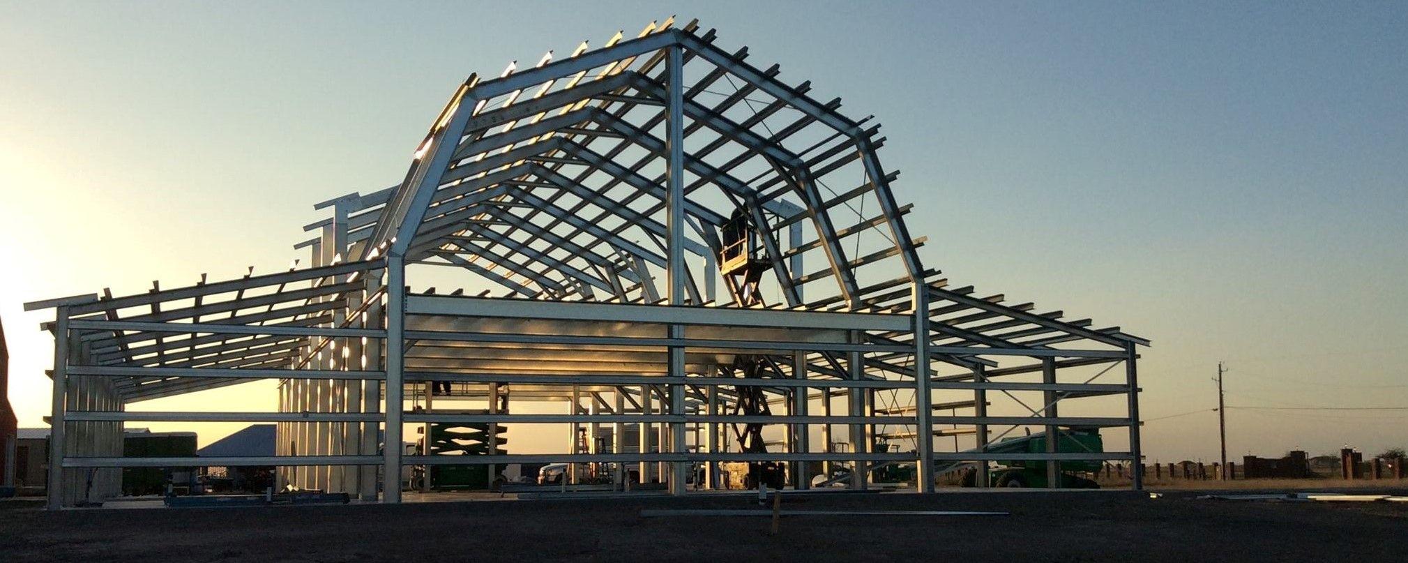 Фото металлокаркаса здания из легких металлоконстуркций